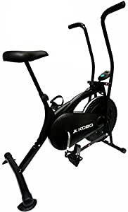 KOBO AIR Bike Delux Exercise Cycle Black Dual Action/Electronic Meter