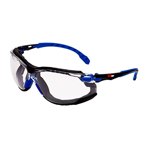 3M Solus Safety Glasses, Blau/Schwarz frame, Scotchgard Anti-Fog, Clear Lens, S1101SGAFKT-EU