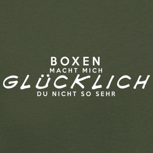 Boxen macht mich glücklich - Herren T-Shirt - 13 Farben Olivgrün