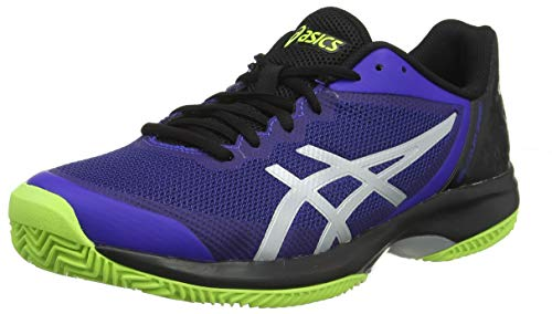 ASICS Herren Gel-Court Speed Clay Tennisschuhe, Blau (Illusion Blue/Silver 410), 50.5 EU - Herren Indoor Court Schuhe