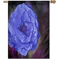 Kotdeqay Spring Flowers Floral Polyester Garden Flag Outdoor Banner 28 x 40 Inch, Nature Seasonal Greeting Decorative Large House Flags M19