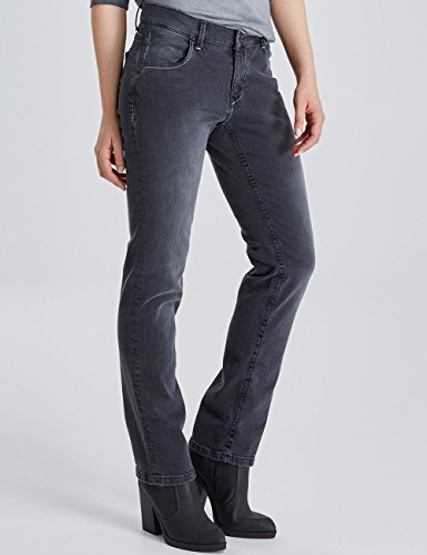 Pioneer Damen Straight Jeans Sally Grau (dark grey used 85)