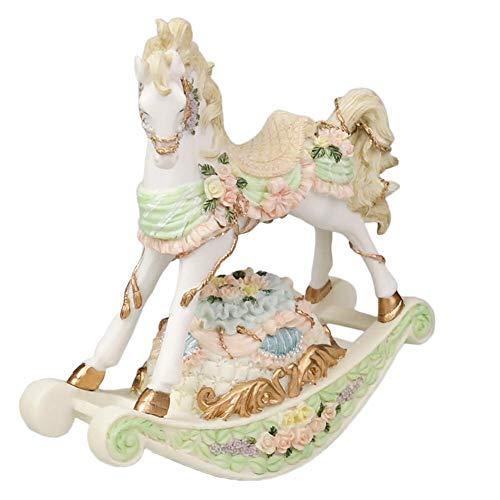 L@LILI Bascule boîte à Musique de Cheval, Shake Clockwork Style européen sculpté Creative Bureau décoration Cadeau