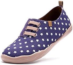 UIN Cielo estrellado Zapato de lona impresa morado para los hombres