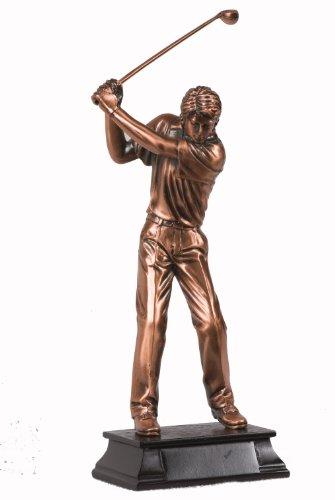 StealStreet ss-ba-c1241d 22,9cm klein Kupfer Stecker Golfer Schaukeln Club den Abschlag Display Statue -