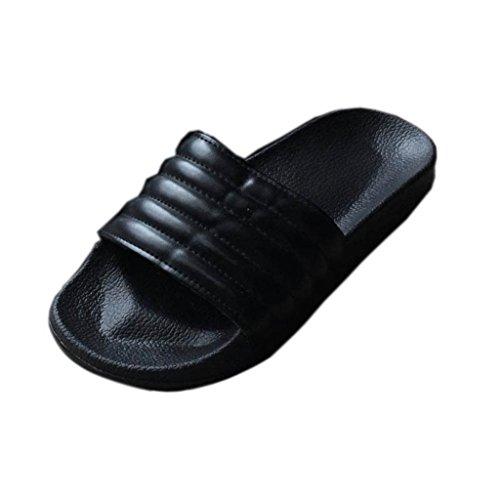 taottao Frauen Dick unten flach Slipper Casual Street Style Rutschfeste weiche Flip Flop Sandale SPORT Innen und Außenbereich Gleitern Bad Strand Pool Schuhe können Match Socken, schwarz, 50 (Pelz Unten)