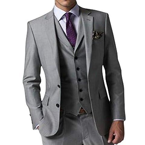 GEORGE Herren Anzug Tuxedos Smokingsakko Anzuege 3-Teilig Anzug Sakko,Anzug Hose,Weste 154,S