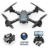 SNAPTAIN Drone Pliable Quadcopter FPV WiFi Drone avec caméra Grande Angle 2.0MP 720P Super Mini pour Les débutants