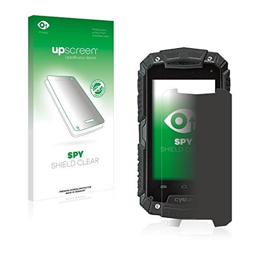 upscreen Spy Shield Clear Blickschutzfolie / Privacy für Cyrus CS 20 (Sichtschutz ab 30°, Kratzschutz, selbstklebend)