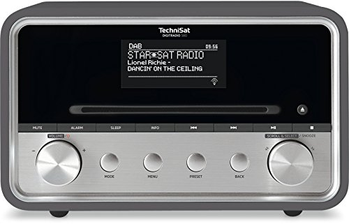 TechniSat Digitradio 580 Internetradio (Spotify, WLAN, LAN, DAB+, DAB, UKW, CD-Player, Bluetooth, USB, Radiowecker, Wifi Streaming, Multiroom, Equalizer, 2 x 10 Watt Lautsprecher) anthrazit
