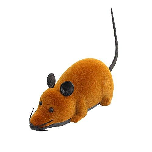 Yosoo Fernbedienung Spielzeug Mini Fernbedienung RC Mäuse maus w Spielzeug Geschenk für 3 + Jahr Kinder Weihnachten Geschenk (Braun)