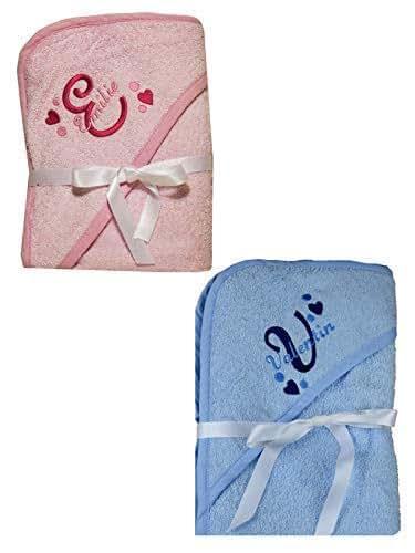 serviette b b sortie de bain capuche rose ou bleu brod personnalis avec le pr nom serviette. Black Bedroom Furniture Sets. Home Design Ideas