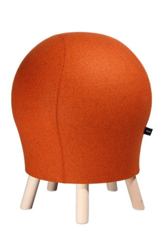 Topstar Hocker Sitness 5 Alpine orange in edler Filzoptik - Stuhl mit Sitzball-Effekt