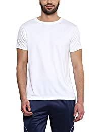 Sunstar Uniforms Men's Round Neck Polyester Sports T-Shirt White