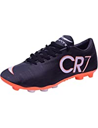 b84381033 Trady Ultimate CR7 Juventus Ronaldo Studs Black Football Shoes for Men &  Studs Shoes for Men's
