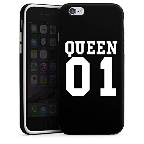 Apple iPhone 6s Hülle Case Handyhülle Queen 01 Königin Pärchen Silikon Case schwarz / weiß