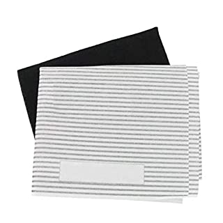 Universal Cooker Hood Carbon Grease Filter Kit for Kitchen Extractor Fan Vent - 3 Pack