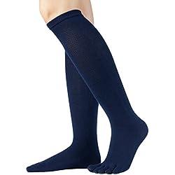 Knitido Essentials | Calcetines Clásicos en algodón (81%) por debajo de la rodilla, para hombre y mujer, negro, gris antracita y violeta, Talla:39-42, Colores:navy