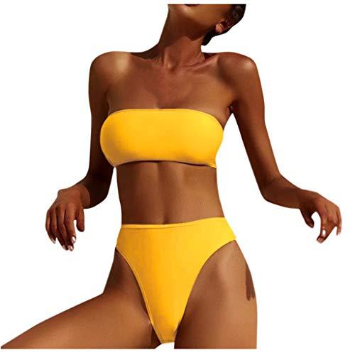 DedSecQAQ Mujer Bandeau Vendaje Bikini Conjunto Hacer Subir brasileño Trajes de baño Ropa de Playa...