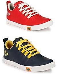 Lavista Men's Blue And Red Sneaker Casual Shoe