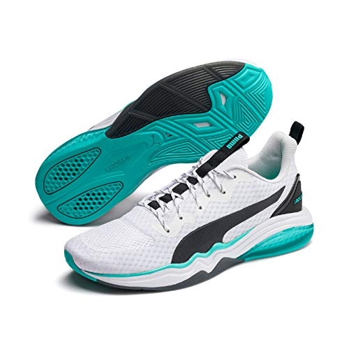Puma Lqdcell Tension, Scarpe Sportive Indoor Uomo, White/Blue Turquoise 03, 7.5 EU