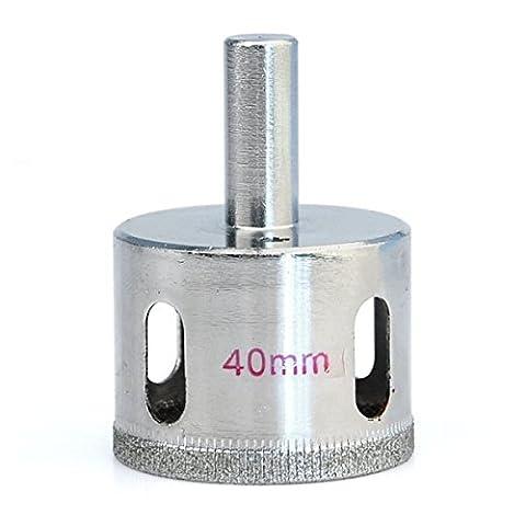 Idealeben® 40mm Foret diamanté Fraise Mèche Trépan pour Céramique Verre