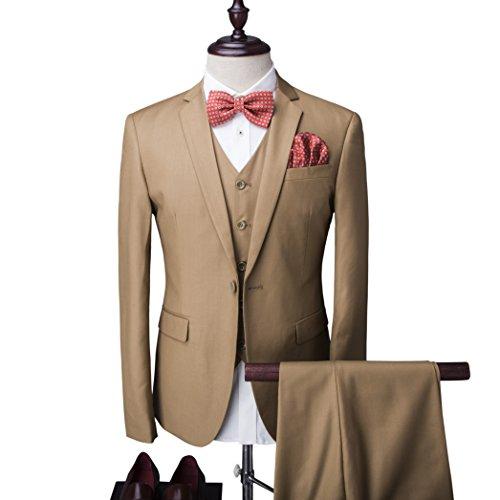 Herren ein knopf Anzug mit Weste +Fliege Hochzeit Party Abschlußfeier