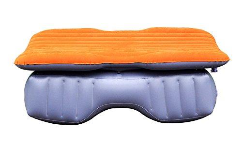 Materiale PVC floccaggio Orange inflazione pieghevole materasso di viaggio dell'automobile facile cura resistente facile da installare auto cuscino mobile aria letto eco-friendly e insapore resistente