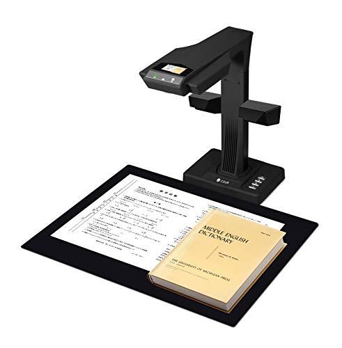 CZUR ET18-P Upgrade Buchscanner, Dokumentenscanner mit OCR und WiFi Funktion, Nach PDF Konvertieren/Durchsuchbare PDF/Word/Excel für Scanfläche bis A3 A4, Passt für Win und Mac, 18MP HD Kamera