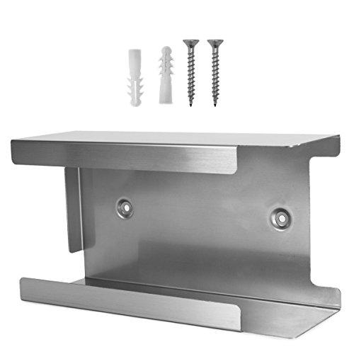 Handschuh-Spender Edelstahl  Für 1 Box XL (25 x 13.4 x 8.7) Silber
