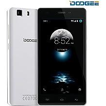 DOOGEE X5 Pro, Desbloqueado 4G Smartphone - 5.0 '' Pantalla IPS - 2 GB de RAM + 16 GB de ROM - Dual SIM móvil con cámara dual - Espera larga SIM libre - Teléfono celular Android - Blanco
