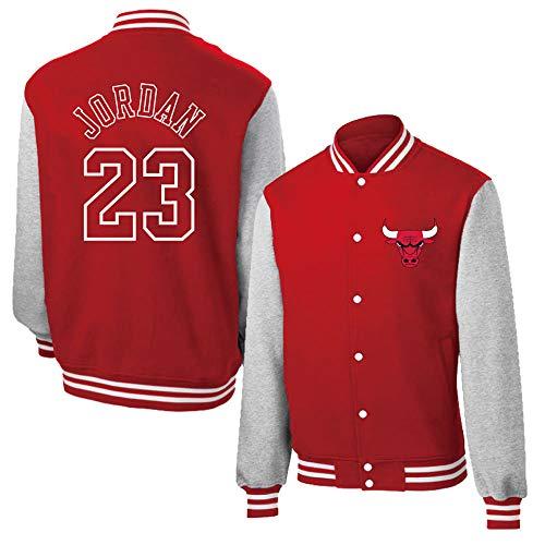 MFsport Chicago Bulls Michael Jordan Herren Baseball Varsity Jacke Abzeichen, Herren Basketball Sweatshirt