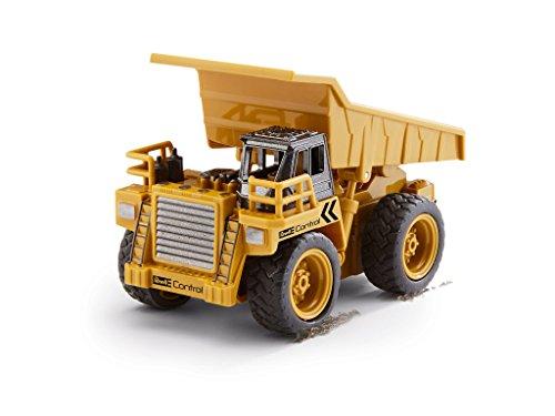 RC Auto kaufen Baufahrzeug Bild 3: Revell Control 23495 RC Baufahrzeug Kipplaster ferngesteuertes Auto, gelb-orange, Länge: ca. 10 cm*