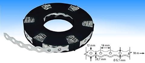 Industrie-Montageband / Lochband verzinkt 12mm x 0,7mm x 10m
