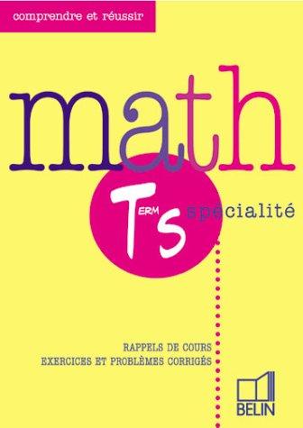 Maths Terminale S, enseignement obligatoire