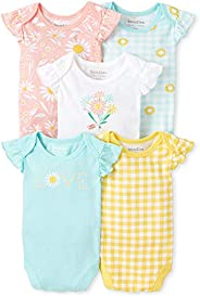 The Children's Place Baby Boys' Daisy Bodysuit 5-Pac