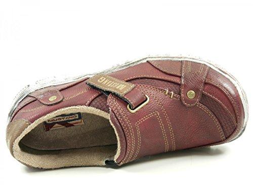 Mustang 1110-403 Schuhe Damen Slipper Halbschuhe Sneaker Rot