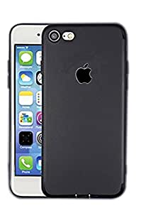 Apple case cover BLACK Series shockproof single layer Silicon Back Cover with Soft, dark Apple logo cut cover For Apple IPHONE 6+ 16GB (BLACK)