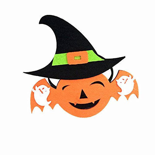 Kostüm Fledermaus Haar - zhouba Halloween Haarband Ghost Hexe Hat Fledermaus Kürbis Haar Hoop Kopfbedeckung Kopfbedeckung Kostüm Zubehör, Stoff, as the pictures show, Bat*