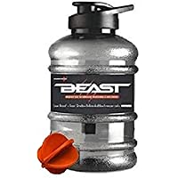 DOVEAZ Beast Sports Water Bottles for Office use/Protein Shaker Bottle/Gallon Bottle (1.5 LTR) with Mixer Ball and…