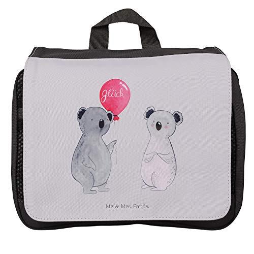 Aufhängen, Waschtasche, Kulturbeutel Koala Luftballon - Farbe Grau Pastell ()