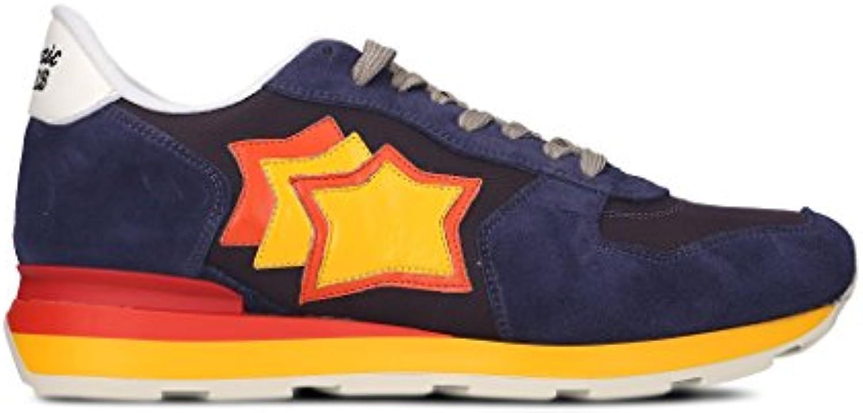 Atlantic Stars Herren ANTARVB27R Blau Leder Sneakers