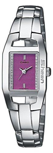 Casio Casio Collection Damen SHN-4003D-6FEF - Reloj de mujer de cuarzo con correa de acero inoxidable plateada