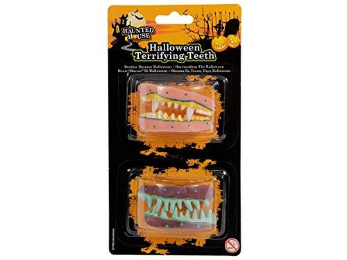 Alsino Halloween Zombie Monster Gebiss Horror Grusel Faule Schiefe Zähne, Variante wählen:P974010 Gebiss Set 2