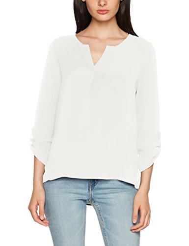 VERO MODA Damen Bluse Vmsasha 3/4 Top A Noos, Weiß (Snow White Snow White), 34 (Herstellergröße: XS)