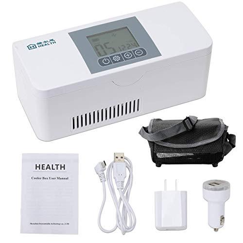 Febelle Estuche refrigerador de insulina portátil Caja refrigeración de insulina para medicamentos...