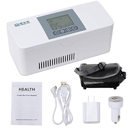 Febelle Estuche refrigerador de insulina portátil Caja refrigeración de insulina para medicamentos medicación Fresca aislada en Coche hogar Viaje