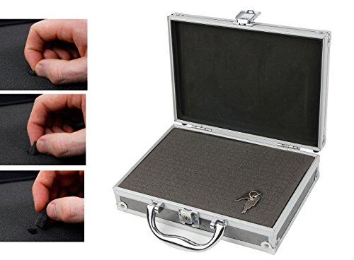 Preisvergleich Produktbild Aluminium Koffer mit selbstzuschneidbarem Schaum für Ihr Digital Multimeter von Crenova und Zubehör- DuraGadget