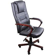 Fauteuil de bureau cuir et bois chaise bureau ikea