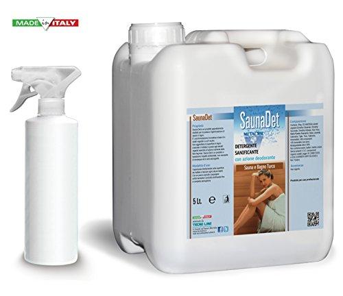 Galleria fotografica Detergente e Igienizzante per Sauna a base Naturale - SaunaDet 5 Litri - Spedizione IMMEDIATA
